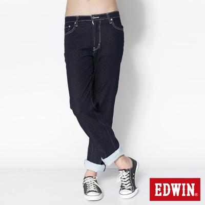 EDWIN-大尺碼503-COOL-RELAX中直筒褲-男款-原藍色