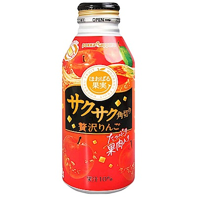丸善食品 果實蘋果風味飲料-含果肉(400g)