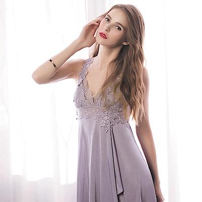 華歌爾 美麗佳人奢華系列M-L 睡衣裙裝(紫)情人結婚送禮首選