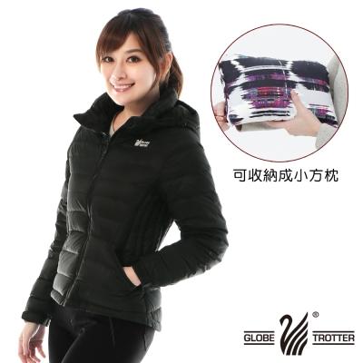 【遊遍天下】女款顯瘦JIS90%羽絨防風防潑水極暖羽絨外套G0321黑色