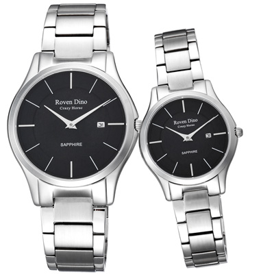 Roven Dino羅梵迪諾  醉星庭園時尚對錶-黑-41X32mm