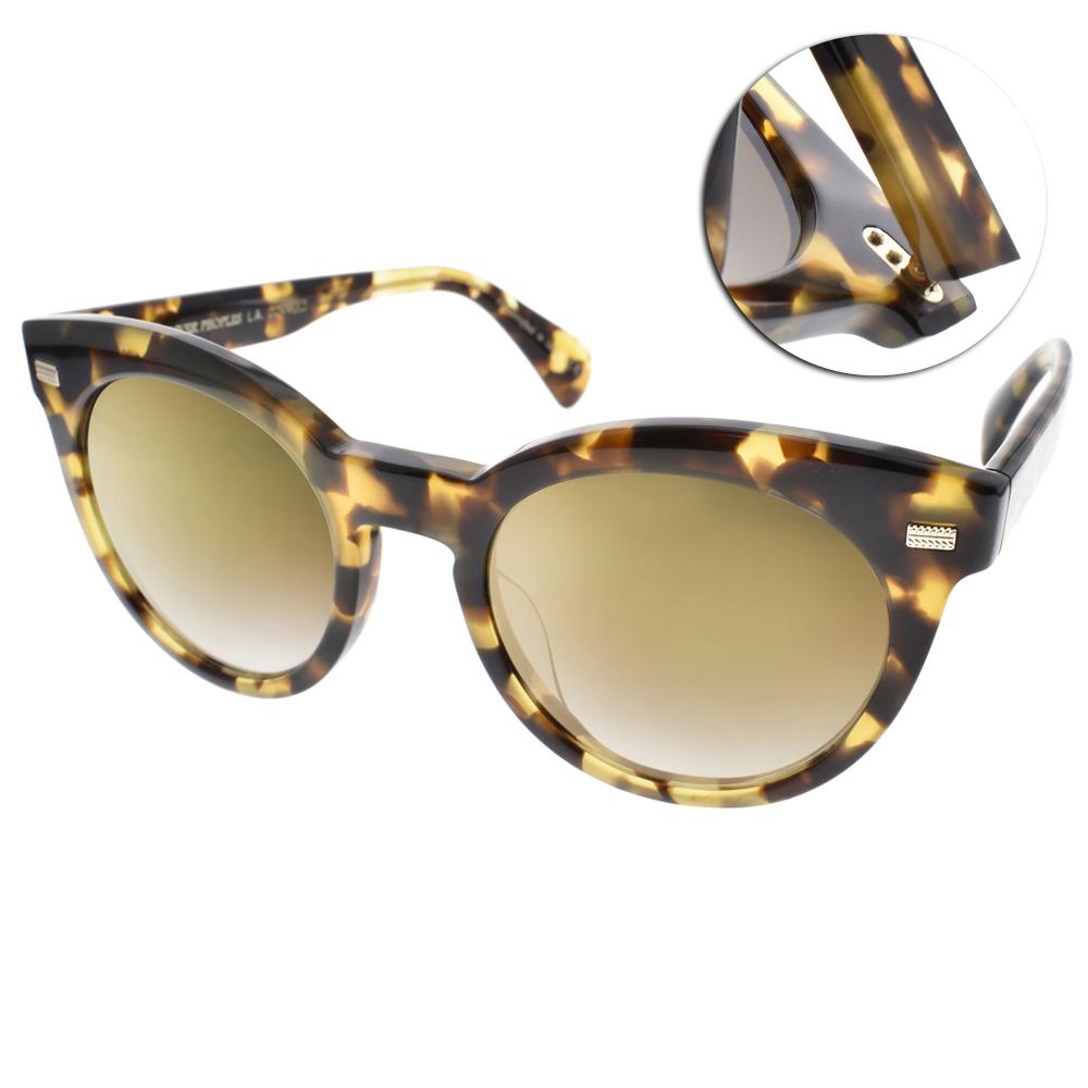 OLIVER PEOPLES太陽眼鏡 歐美貓眼款/琥珀棕-黃水銀#DORE 15506U