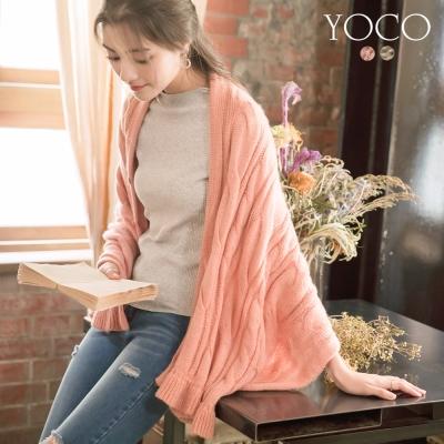 東京著衣-yoco 古典美人不規則荷葉針織外套(共二色)