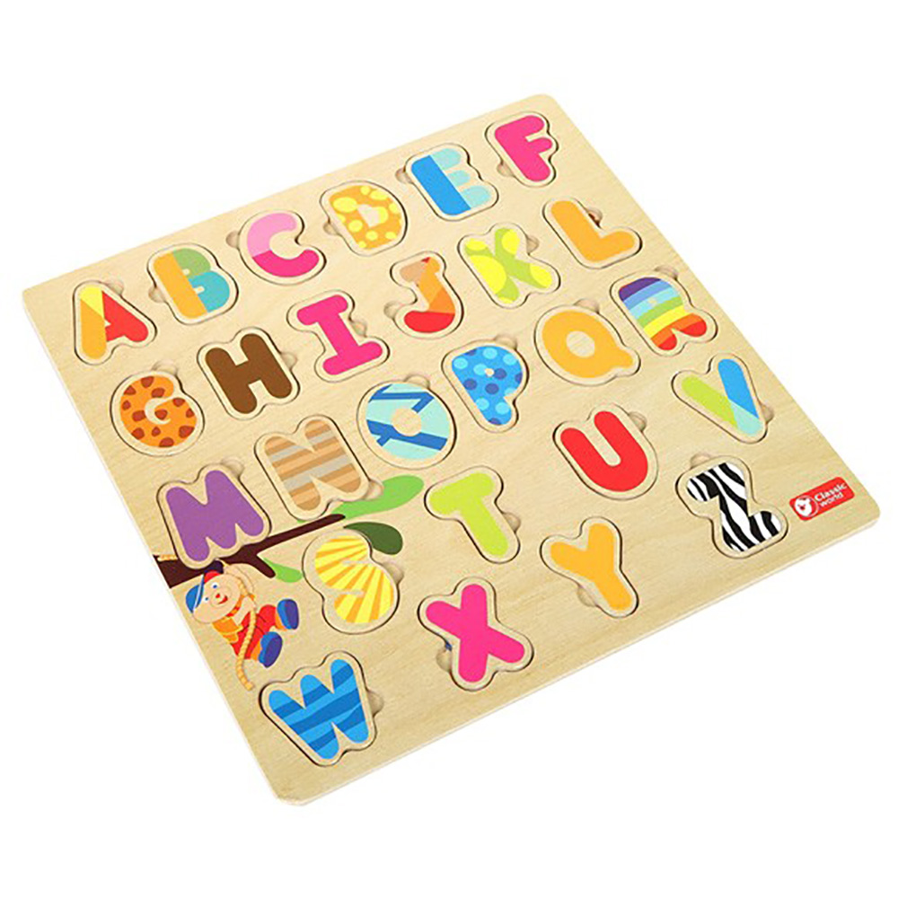 Classic World 德國經典木玩  字母配對拼圖
