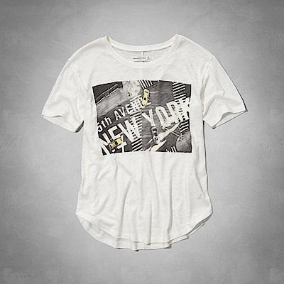 AF a&f Abercrombie & Fitch 女 短袖 T恤 白 0788