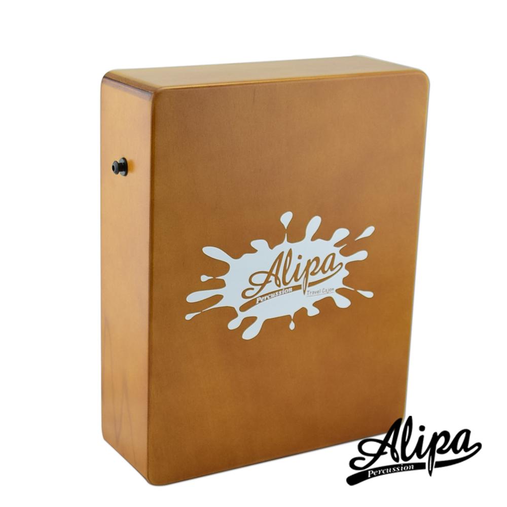 Alipa-入門超值組合Cajon 旅行用迷你木箱鼓(原木)+攜行袋+教學書