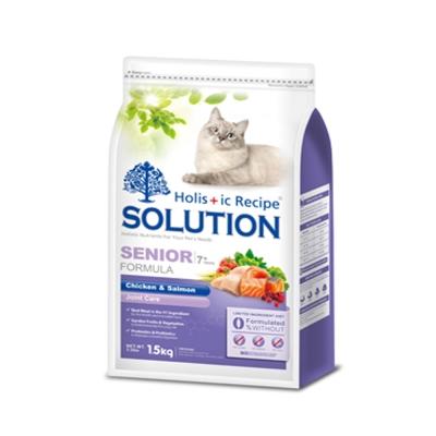 SOLUTION 耐吉斯 高齡貓 高齡/關節配方 鮮雞肉+鮭魚 1.5kg X 1包