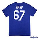 Majestic-堪薩斯皇家隊王建民背號67號T恤-藍