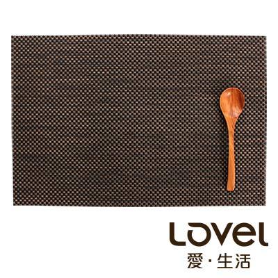 LOVEL 歐美風手作編織感餐墊-復古深咖(1入組)