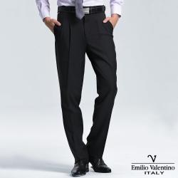 Emilio Valentino 范倫提諾高級打摺西褲-黑