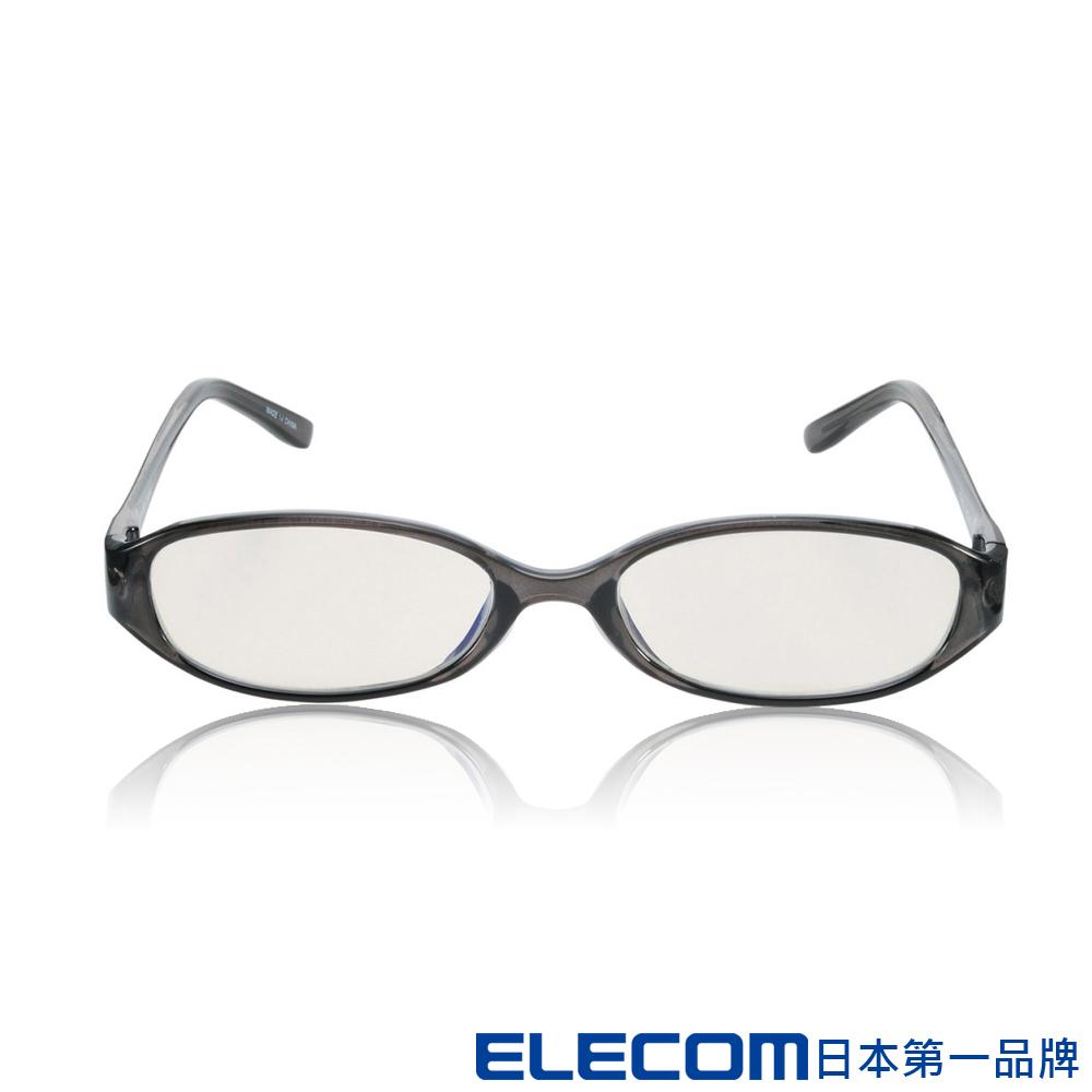 ELECOM 抗藍光眼鏡OG-ABLC06 透明橢圓