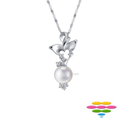 彩糖鑽工坊 日本海水珍珠項鍊&鑽石項鍊 晨露與蝶系列