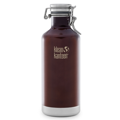 美國Klean Kanteen快扣鋼蓋保冰鋼瓶946ml-深琥珀