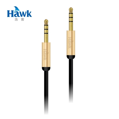 Hawk M315鋁合金3.5mm音源傳輸線(公-公150cm)