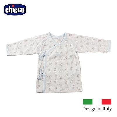chicco-印花肚衣二入-藍熊(3-6個月)