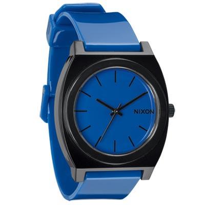 NIXON TIME TELLER P躍動普普個性腕錶-藍/40×37mm