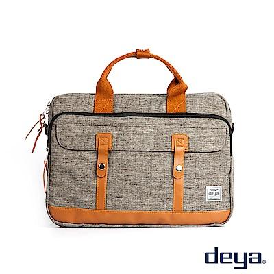 deya 都會型格電腦公事包-褐色
