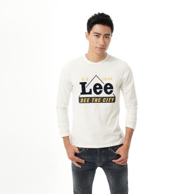 Lee-圓領Logo長袖T恤-男款-百搭耐看