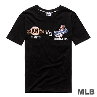 MLB-世仇對戰組合印花短T(巨人V.S道奇)-黑 (男)