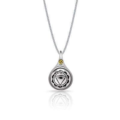 STORY故事銀飾-脈輪系列-太陽輪Solar Chakra純銀項鍊