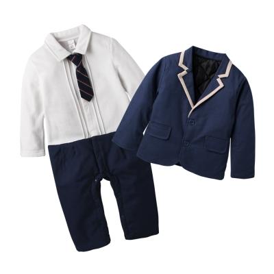 baby童衣 鋪棉學院風假二件爬服 兩件組 60338