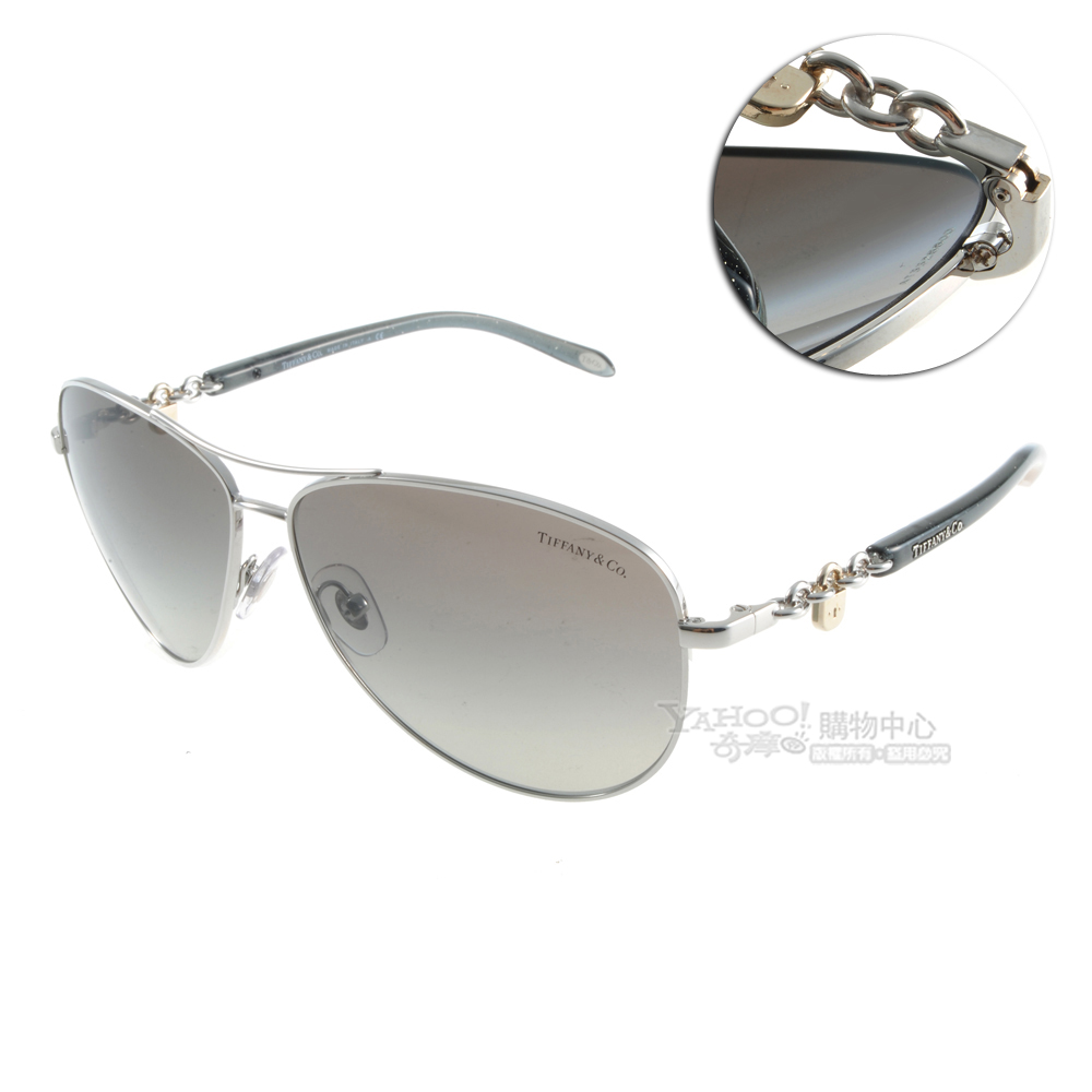 Tiffany&CO.太陽眼鏡 鎖鍊Locks/星空黑#30346001