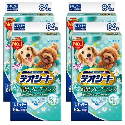 日本Unicharm消臭大師 小型犬狗尿墊 森林香 M號 84片裝 x 4包