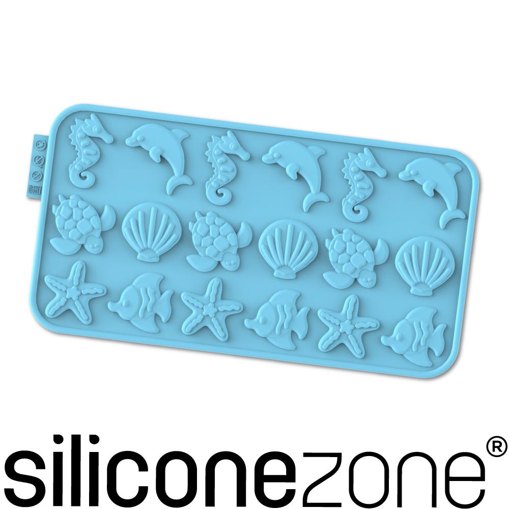 Siliconezone 施理康耐熱矽膠海洋巧克力模-藍色