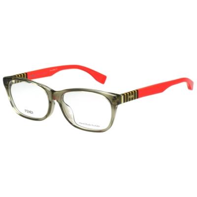 FENDI 時尚光學眼鏡 (透明亞麻色)FF1003