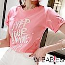正韓 炫光字母圓領短袖T恤 (共四色)-W BABIES