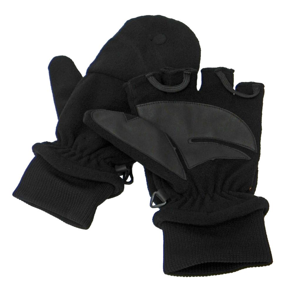 【VOSUN】新款 DINTEX 輕量防風防水翻蓋兩用手套/V-586 黑