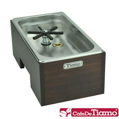 Tiamo-專業洗杯器渣桶附木盒-大型-BC2409