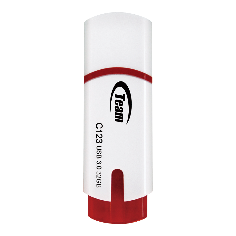 Team 十銓科技 C123 USB3.0 小資碟-白色 32GB隨身碟