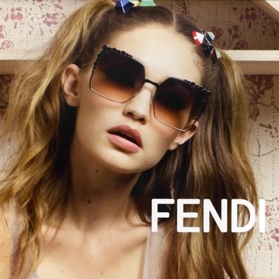 FENDI 廣告款 大方框 水銀 太陽眼鏡 (黑色)FF0259S-205