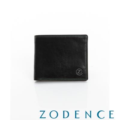 ZODENCE-MAN-簡約系列兩折短夾-黑