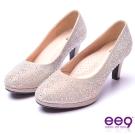 【ee9】芯滿益足-璀璨奢華名媛專屬夢幻晶鑽跟鞋*米色