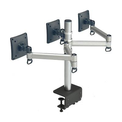 FOGIM夾桌懸臂式液晶螢幕支架-三螢幕-終身保固