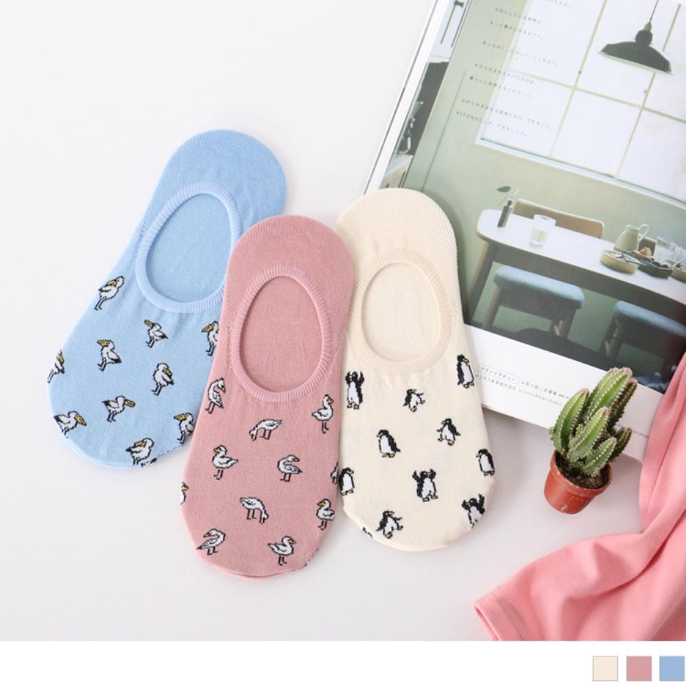 韓國滿版可愛動物隱形襪.3色(3入198)-OB大尺碼