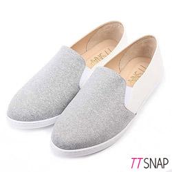 TTSNAP懶人鞋MIT竹節棉布休閒樂福鞋 灰
