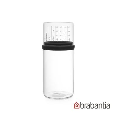 Brabantia 玻璃量杯儲存罐1L-灰黑