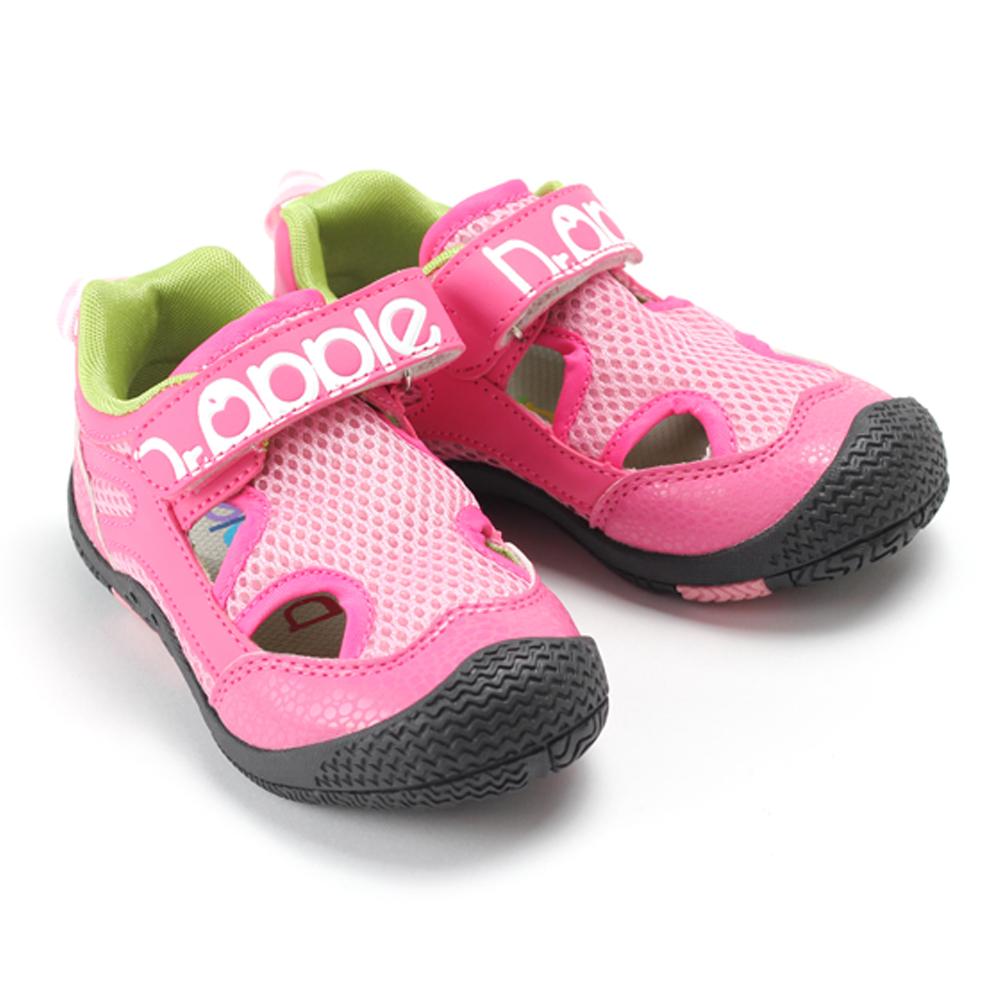 【Dr. Apple 機能童鞋】輕量透氣月球紋童鞋 粉