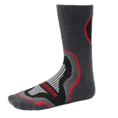 EGXtech 《U型》HT-1 登山機能長筒運動襪 (黑/紅)2雙入