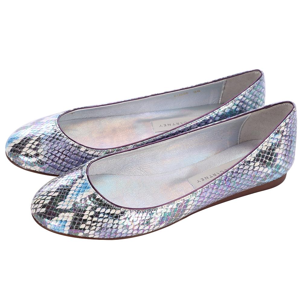 Stella McCartney 蛇紋平底娃娃鞋(藍紫色)