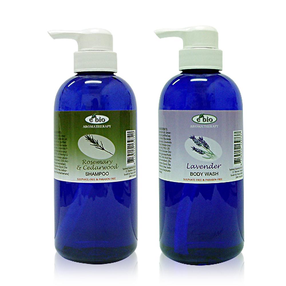 ebio伊比歐精油洗髮沐浴合購2件組
