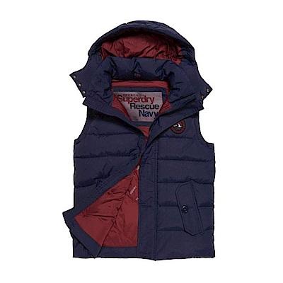 SUPERDRY 極度乾燥 男 背心 外套 藍色  0498