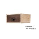 CiS自然行實木家具 收納盒-工業風-小框M款+1抽屜(胡桃咖啡色)