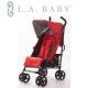 【美國 L.A. Baby】時尚輕便嬰兒手推車-紅色 product thumbnail 1