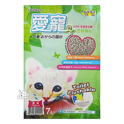 LOVE CAT 愛寵 天然凝結豆腐貓砂 7L X 6包