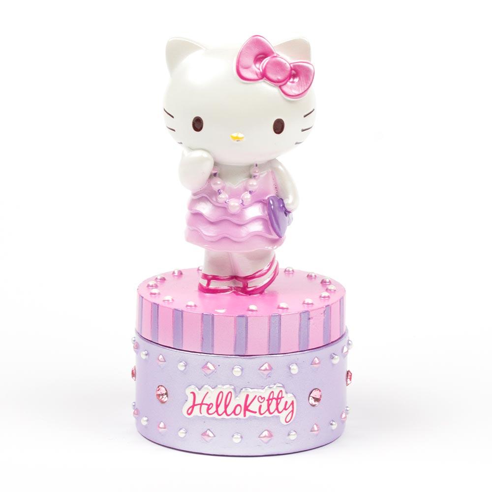 Sanrio HELLO KITTY時尚裝扮立體造型飾品盒(晚宴禮服)