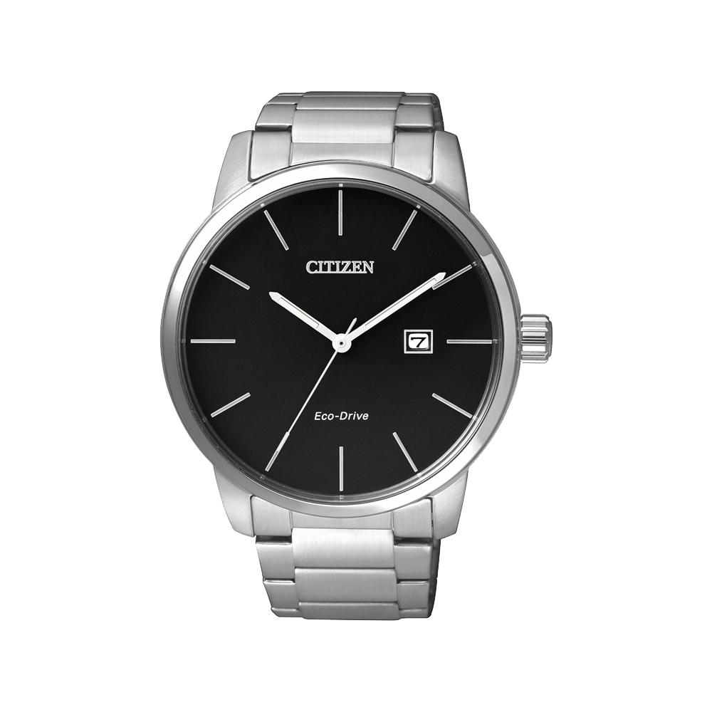 CITIZEN Eco-Drive光動能都會腕錶(BM6960-56E)-黑/43.8mm